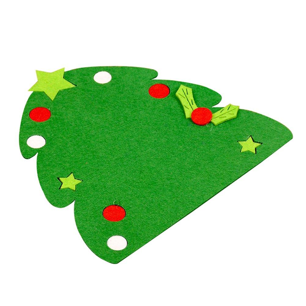 クリスマスツリー帽子グローブシェイプカップクッションホルダードリンクプレースマットマット One Size M6166G06LC3EE01409IFK16 B078BNV312 クリスマスツリー