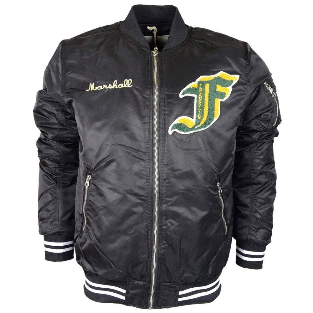 Franklin & Marshall Nylon Zip Bomber Black Jacket M Black