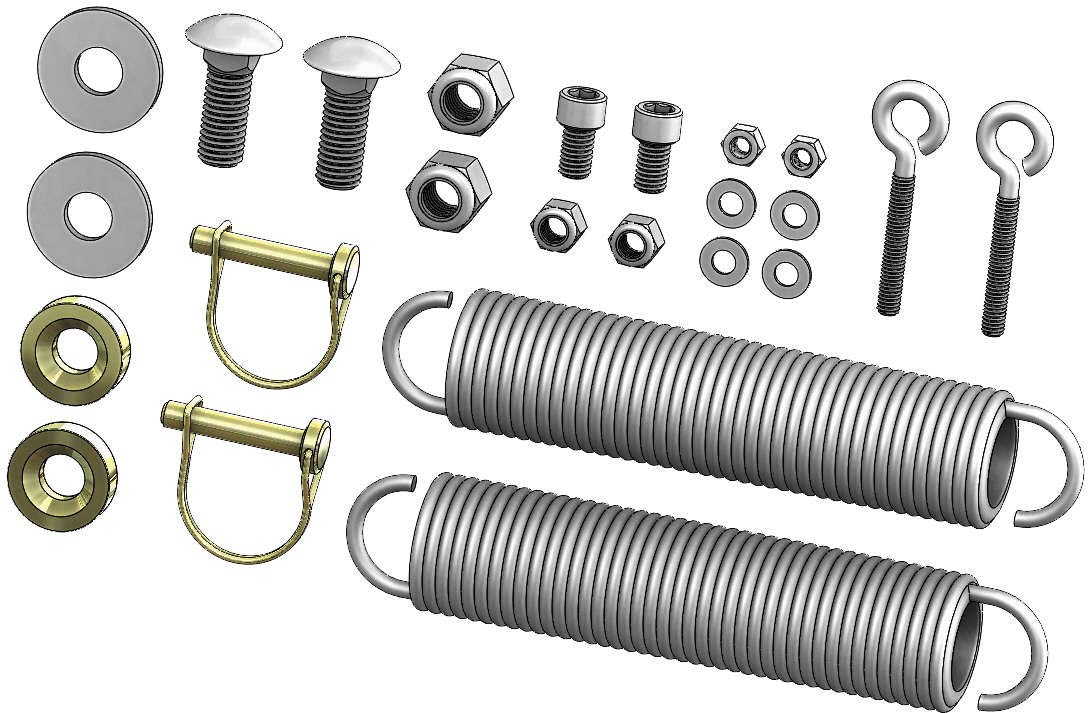 KFI OPEN TRAIL SERVICE KIT ATV PLO W PUSH TUBE HARDWARE KIT 105150 KFI Products