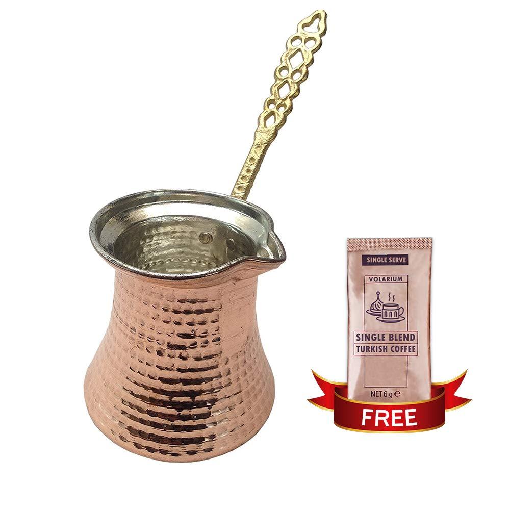 Turkish Coffee Pot, Greek Arabic Coffee Maker, Hammered Cooper Coffee Cezve, Small Pot, Stove Top Coffee Maker