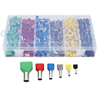 YUPVM 780Pcs Dual Bootlace Ferrule Teminator Kit Electrical Crimp Dual Entry Cord End Wire Terminal Connector