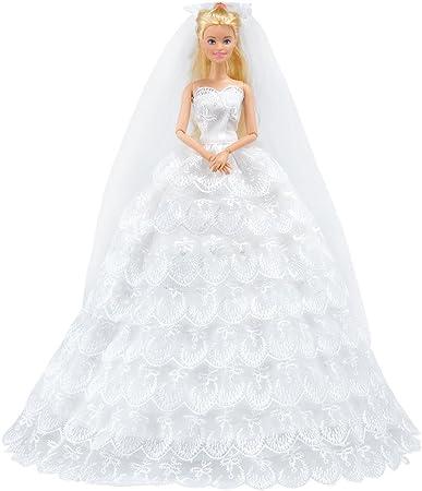 Barbie Fashion Pack Bridal Lace Wedding Gown Veil Shoes Bouquet Mattel, 2019