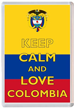 Keep Calm And Love Colombia – Jumbo imán para nevera – Marca nuevo ...