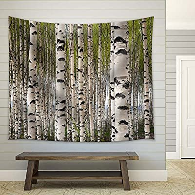 Beautiful White Birch Trees in Spring, Top Quality Design, Alluring Handicraft
