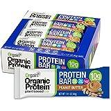 Orgain Organic Protein Bar, Peanut Butter, Vegan, Gluten Free, Non-GMO, USDA Organic, 1.41 Ounce, 12 Count