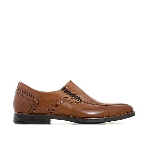 Rockport Slayter Slipon Cognac, Mocasines para Hombre: Amazon.es: Zapatos y complementos