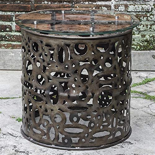 Uttermost 24 in. Industrial Accent Table
