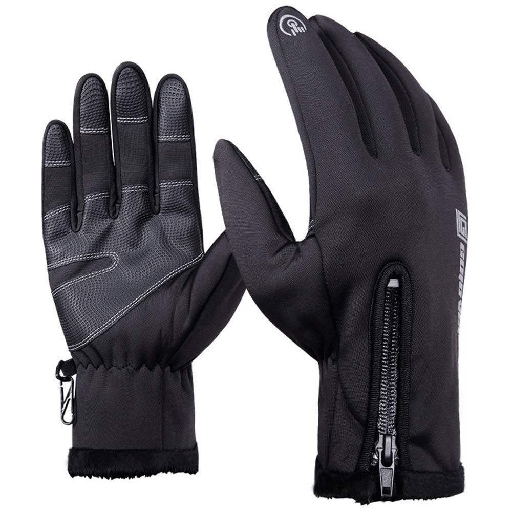 AsDlg Unisex Waterproof Motorcycle Touch Screen Gloves Windproof Warm Cycling Outdoors Full Finger Keep Warm Gloves Fashion (Size : S)