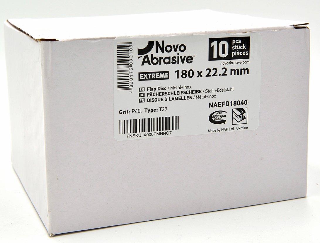 NOVOABRASIVE Lot de 10 Disques 115mm Grain 120 de pon/çage /à lamelles en inox disques de pon/çage /à stries