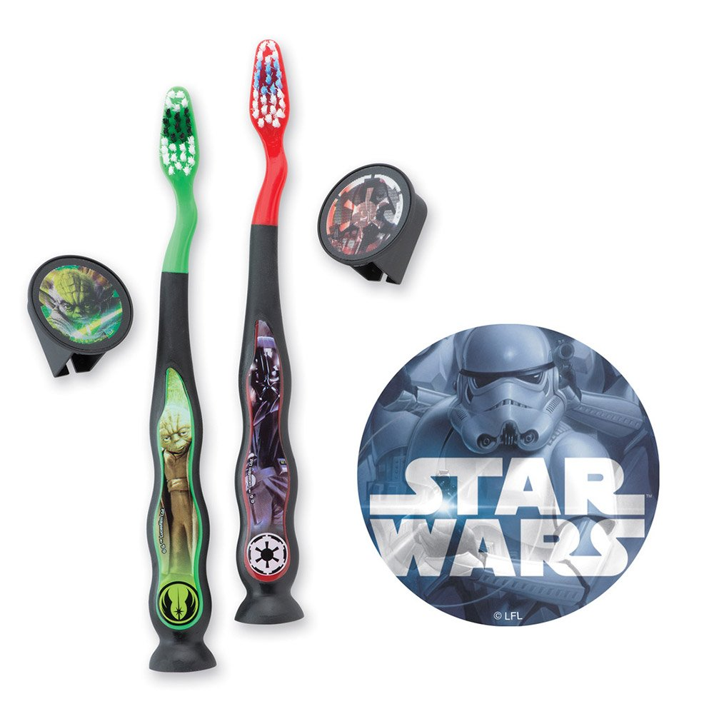 Star Wars Toothbrush & Sticker Bundle-Dental Hygiene Supplies