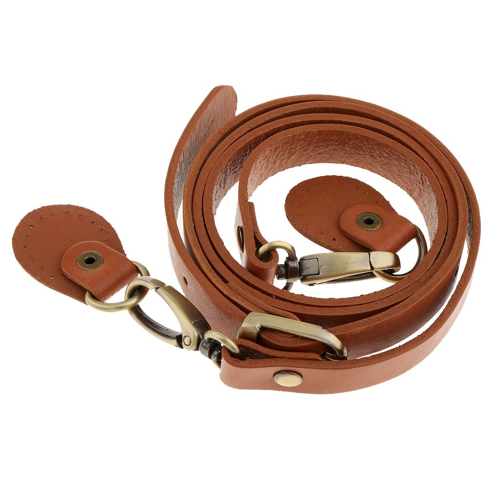 MagiDeal Genuine Leather Cowhide Replacement Bag Handbag Strap Adjustable Crossbody Accessories - Black non-brand