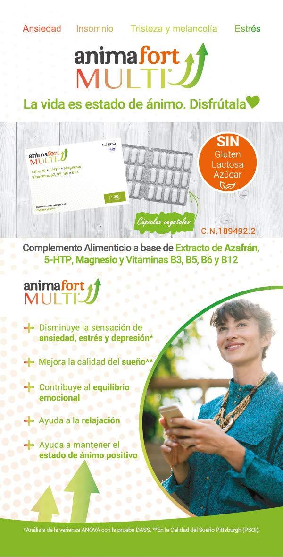 Niam Laboratorios Animafort MULTI Cápsulas Vegetales con Afron, 5-HTP, Magnesio y Vitaminas B, 30 Cápsulas: Amazon.es: Salud y cuidado personal