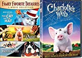 Charlotte's Web Animal Movie Collection + Cat in the Hat & Beethoven + Babe DVD Family favorites Kids Fun