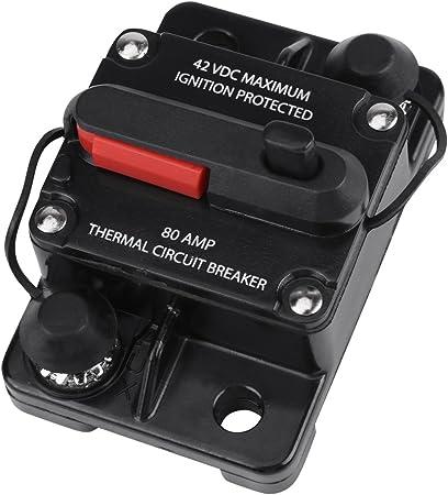 Disjoncteur Porte Fusible Audio Stéréo 12V 24V 80AMP de Voiture