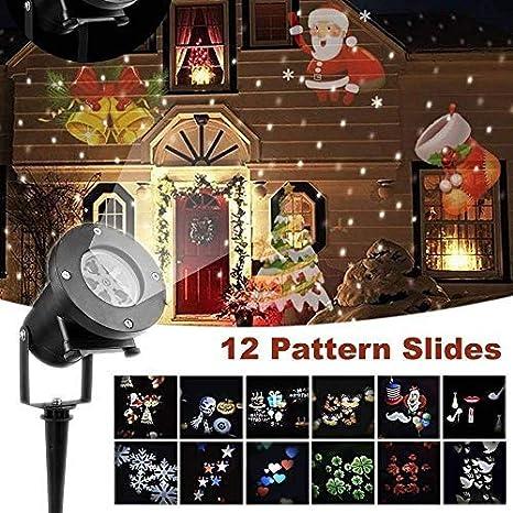 Luces LED para proyectores navideños, decoración para exteriores ...