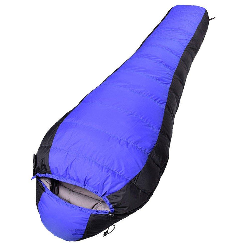 HX outdoor Saco de Dormir,Impermeable de Plumas Engrosamiento Outdoor Camp Ataúd Bolsa de Dormir,Azul: Amazon.es: Deportes y aire libre