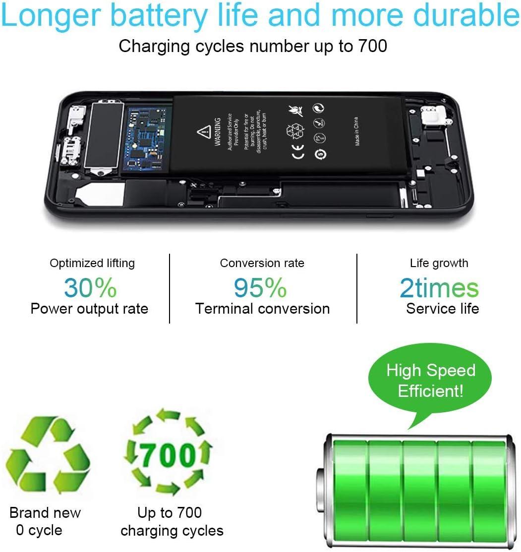 Reemplazo para iPhone 5S bater/ía Conjunto de Herramientas Conjunto de reparaci/ón 1900mAh Reemplazo con Mayor Capacidad Potente bater/ía de reemplazo