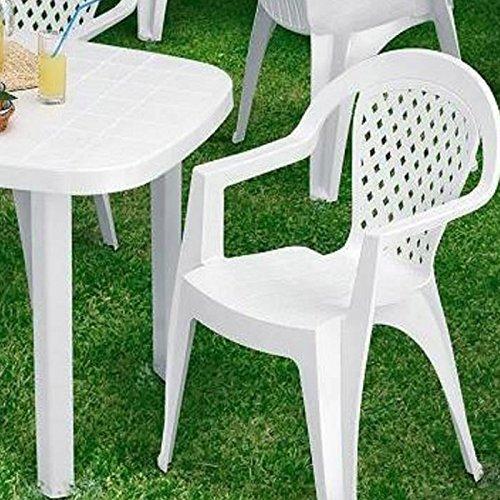 L&M Chaise de Jardin Norma en Plastique résine Blanc Meubles ...
