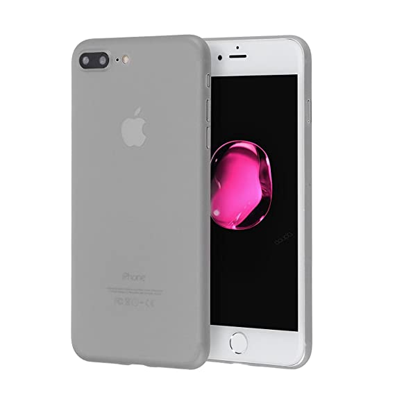 timeless design 48a07 3db1f iPhone 7 & 8 Plus Case Minimalistic Design Thin, for iPhone 8 Plus Ultra  Slim, Pocket Friendly case for Everyday Protection by MX IMPORTS (Gray)