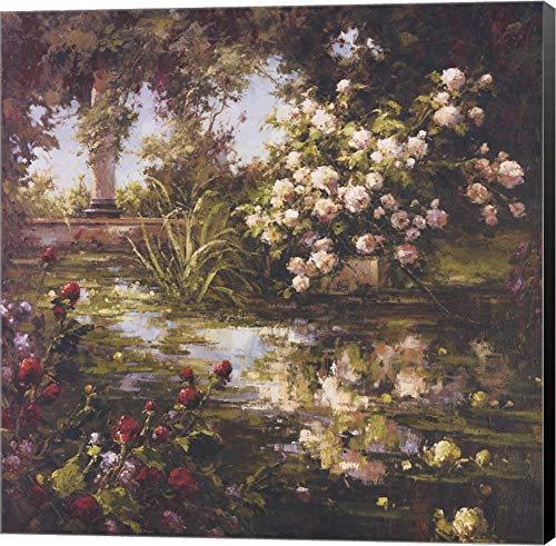 (Juliet's Garden III by Gabriela Canvas Art Wall Picture, Museum Wrapped with Black Sides, 24 x 24 inches)