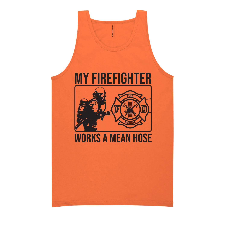 ZeroGravitee My Firefighter Works a Mean Hose Neon Tank Top