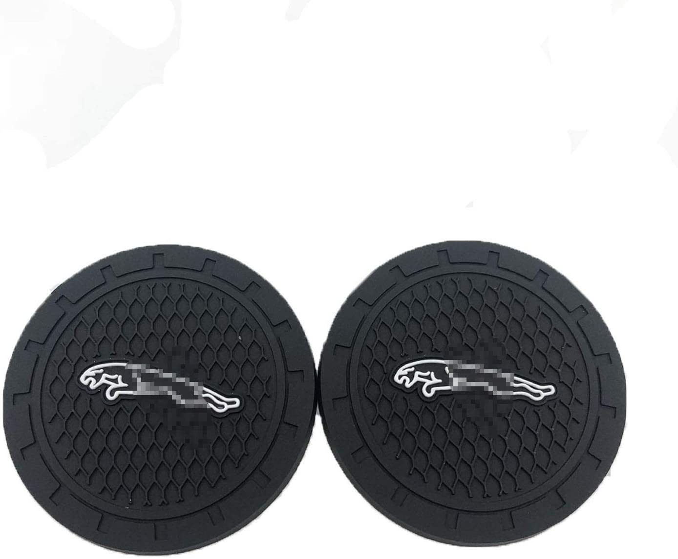 fit Mu-Stang Autosoda 2.75 Inch Diameter Oval Tough Car Logo Cup Coaster by High Grade Silicone Vehicle Travel Auto Cup Logo Heavy Duty Rubber Coaster 2 pcs Set