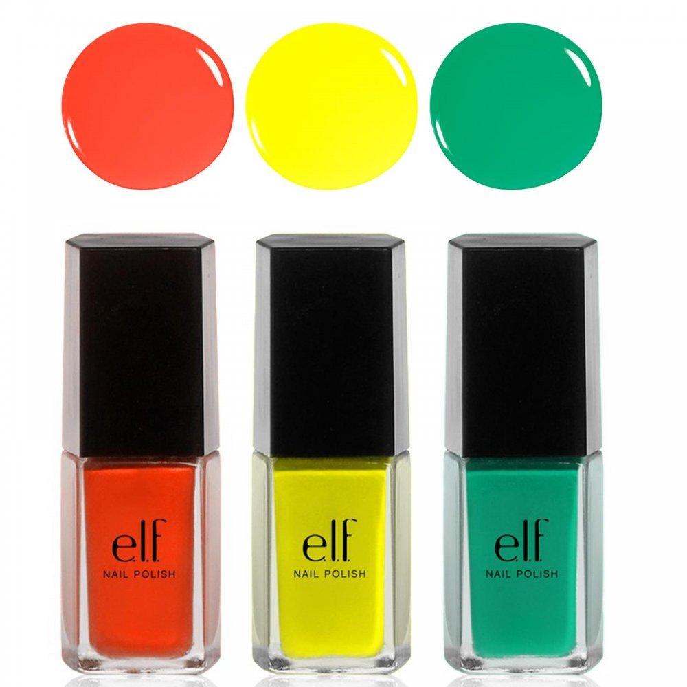 Amazon.com : e.l.f. 3 Piece Nail Polish Set, Beautifully Bright ...