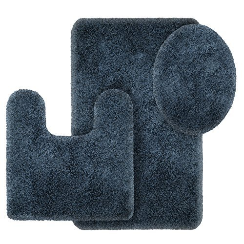Better Homes and Gardens Thick and Plush 3-Piece Bath Rug Set, Insignia Blue from Better Homes & Gardens