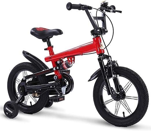 YUMEIGE Bicicletas Bicicletas para niños Freestyle para niños y niñas con Ruedas de Entrenamiento Bicicletas de Carretera Easy Assembly 14 14 18 Pulgadas en 4 Colores Disponible: Amazon.es: Jardín
