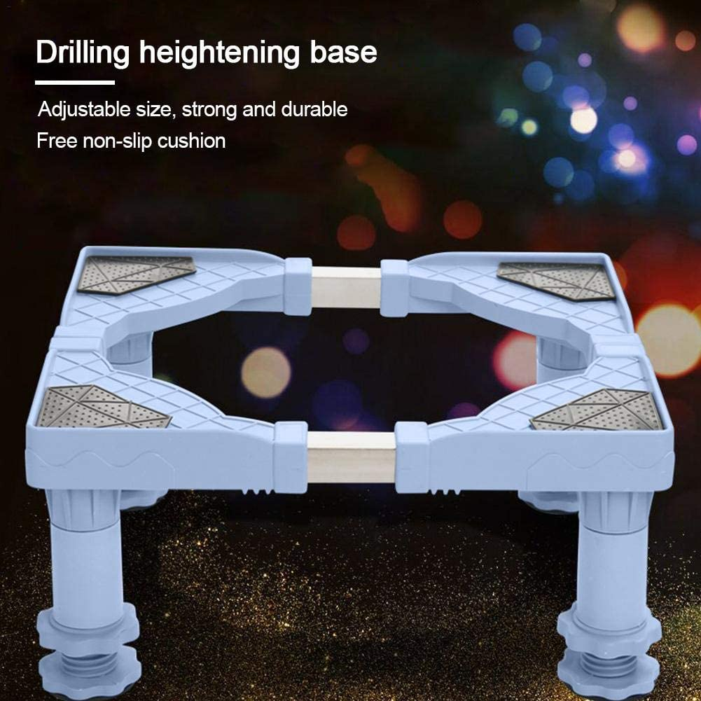 xiangpian183 Washing Machine Base Stand with Adjustable Base Retractable Stainless Steel Dryer /& Refrigerator Washing Machine Shelf Holder Stand Accessories