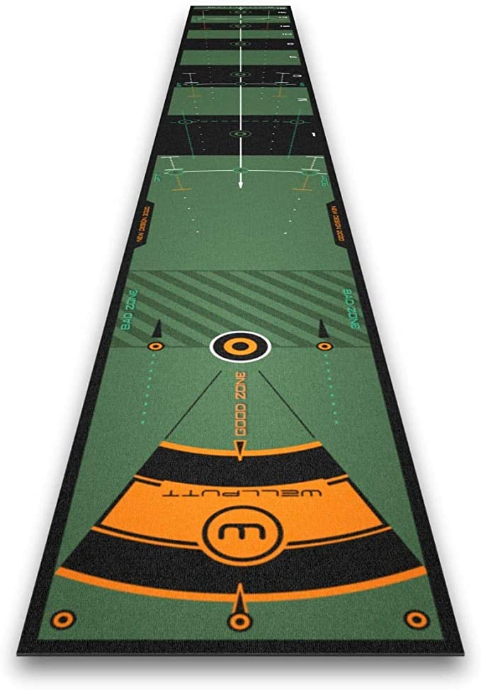Amazon.com : Wellputt Pro Putting Mat 3 Courses 13 Foot (4 Meter) Black Training Aid : Sports & Outdoors
