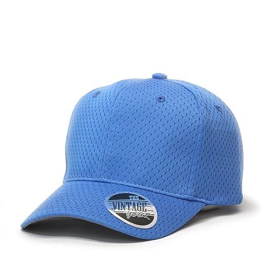 4b40191d5bb Vintage Year Pro Style Six Panel Mesh Sports Baseball Cap (Col Blue ...