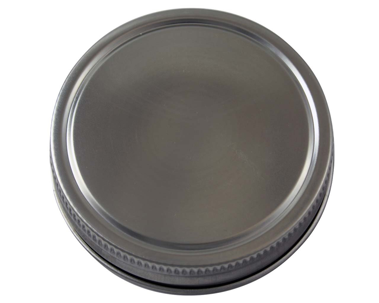 Stainless Steel Storage Lids Caps with Silicone Seals for Mason Jars (5 Pack, Regular Mouth)