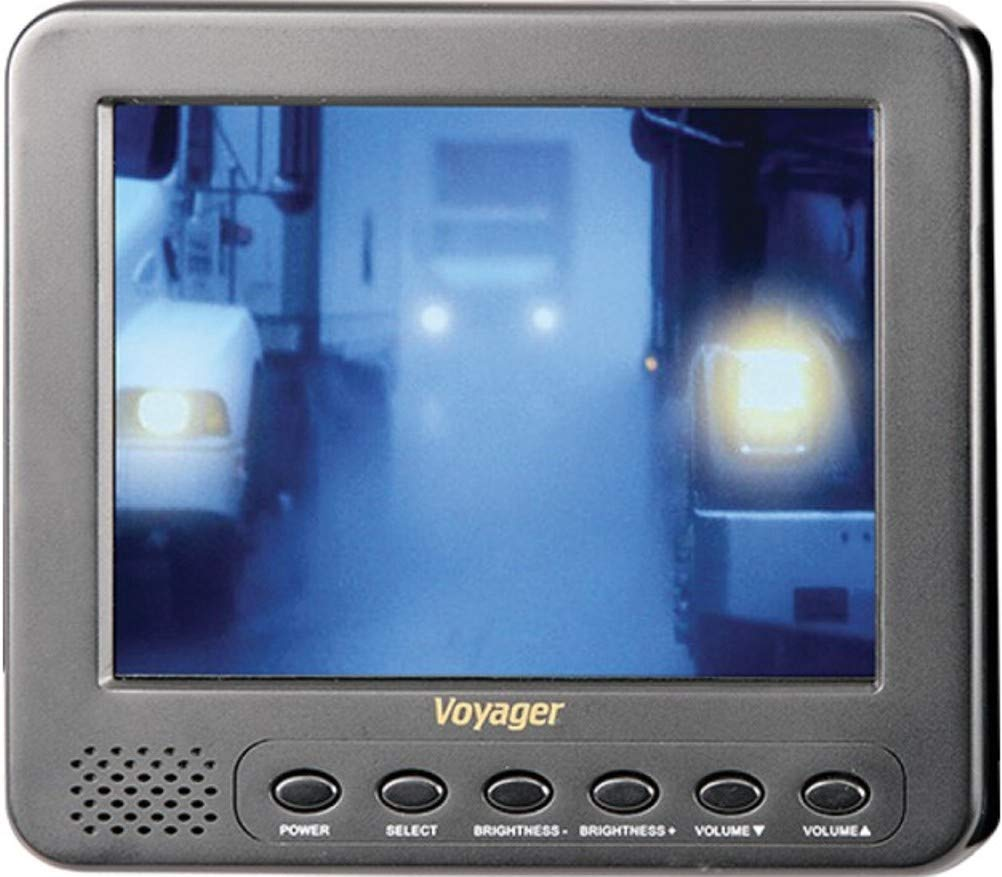Voyager AOM562A Observation 5.6'' Rear View LCD Monitor with 2 Camera Inputs, Aspect Ratio 4:3, Resolution 960 x 234, Brightness 500 cd/m2, Contrast Ratio 250:1, Built-in Speaker, Front Controls by ASA Electronics