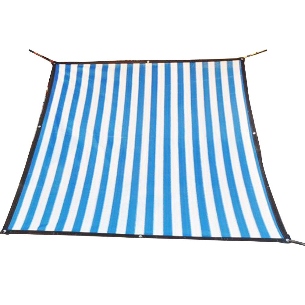 WKHQQ-tenda Ombra Netta, Una terrazza Solarium Cortile tamponamento di Spessore Fiori carnosi Ombra Rete Termica Netta Rete ombreggiata (colore   blu bianca, Dimensioni   6x8m)