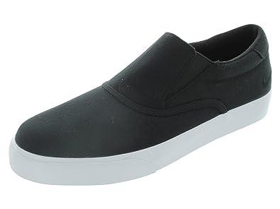newest af982 ef2b7 NIKE Mens Vrona Laceless Canvas Loafer Shoe, BlackWhite, UK 11