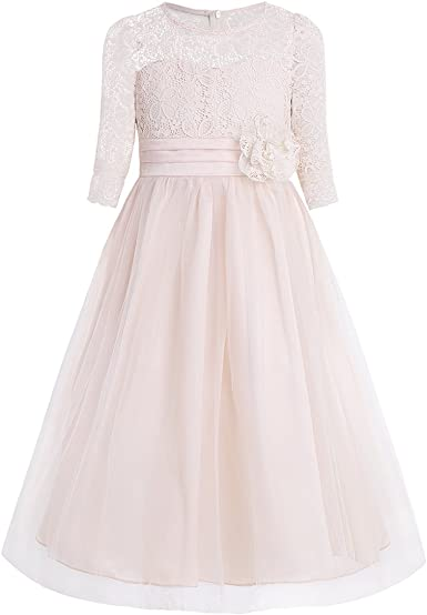 Kleider Iefiel Madchen Festliches Kleid 104 164 Blumenmadchen Hochzeit Kleid Kinder Brautjungfern Kleider Blumenspitze Party Kleid Bekleidung Agb Lv