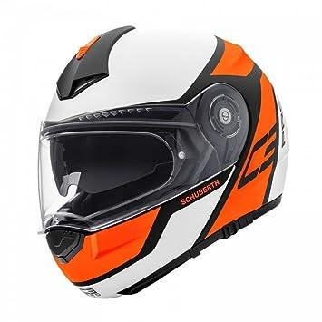 6d7c081f Schuberth C3 Pro DVS Premium Flip Up Front Motorcycle Helmet - Echo Orange  S: Amazon.co.uk: Car & Motorbike