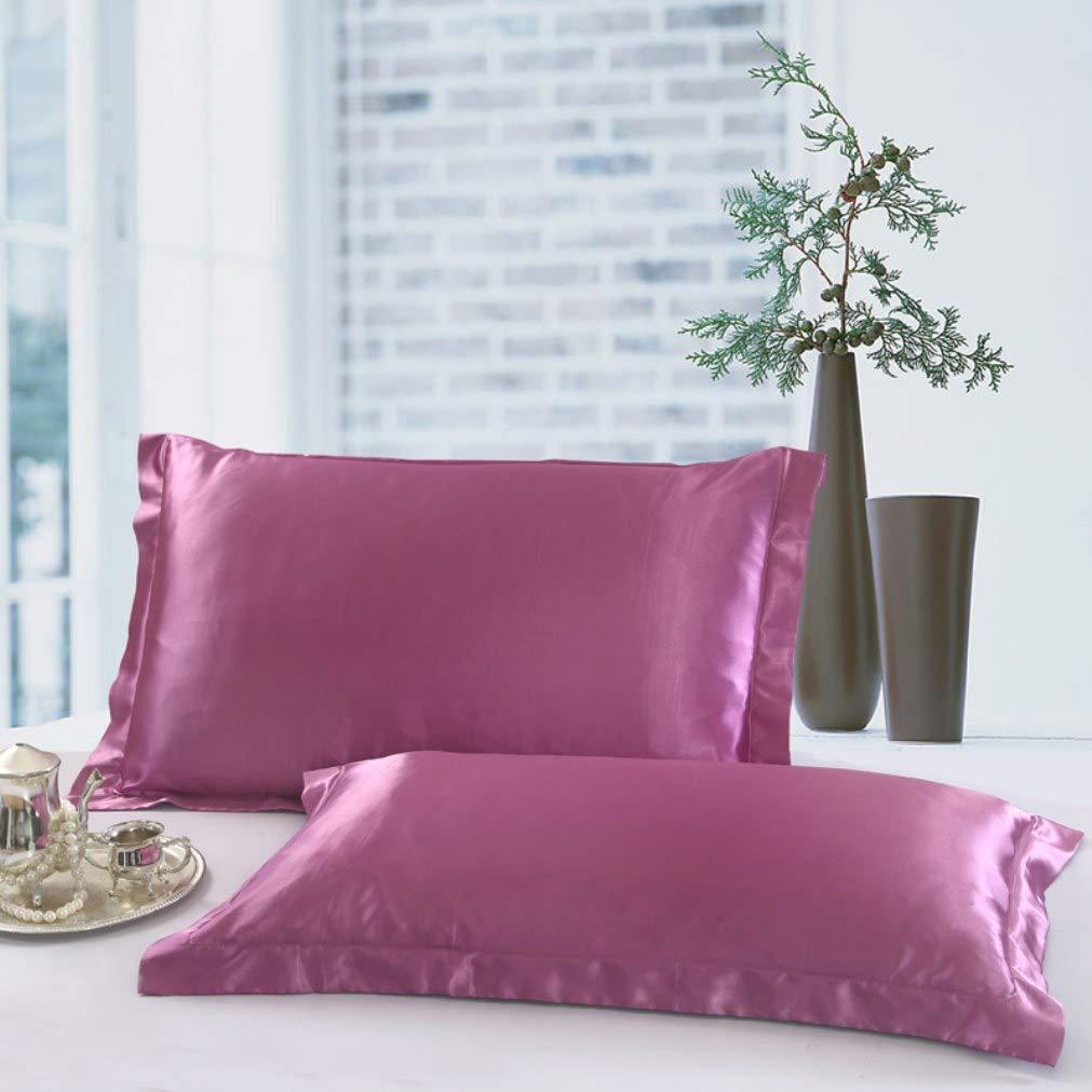Silk Pillow Shams Set of 2 Queen Silk Pillowcase Covers for Hair /& Skin Super Soft /& Luxury Cameo Silk Pillow Cases