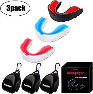 Youth Mouth Guard Football Moldable MouthGuard Sports Kids Adults Boys Mouthpiece Teeth Protective Braces EVA Double Colored