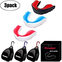 Youth Mouth Guard Football Moldable MouthGuard Sports Kids Adults Boys Mouthpiece Teeth Protective Braces EVA Double Colored for MMA Boxing Rugby Kickboxing Taekwondo Softball Lacrosse(3 Pack)