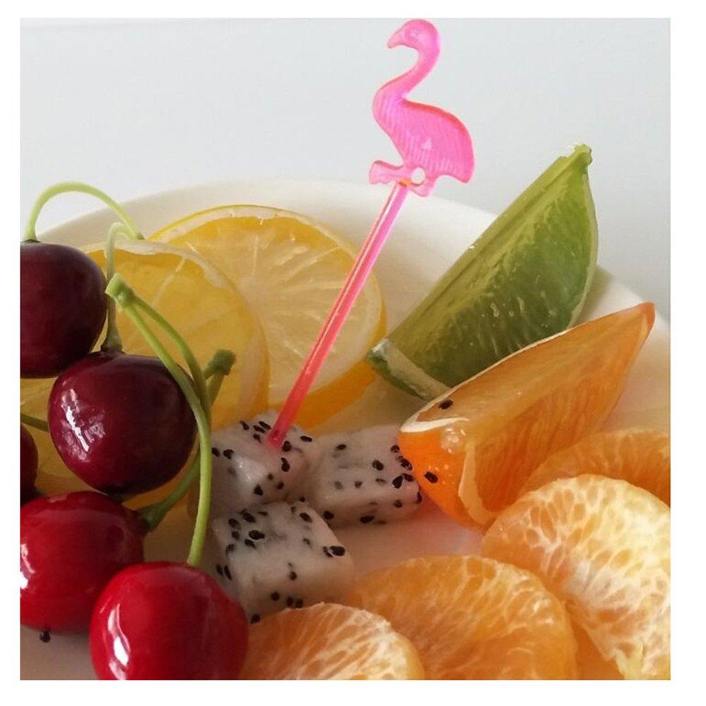 Rosso UPKOCH 50pcs flacone Cocktail di plastica Raccoglie Swizzle Stick agitatori Decorazioni Partito Hawaiano