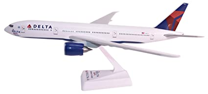 Delta (07-Cur) 777-200LR Airplane Miniature Model Snap Fit 1:200 Part#  ABO-7772LH-005