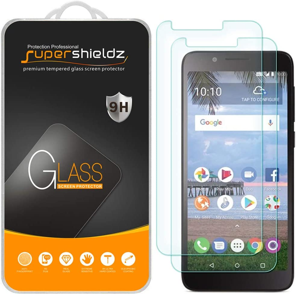 (2 Pack) Supershieldz for TCL LX (A502DL) Tempered Glass Screen Protector, Anti Scratch, Bubble Free
