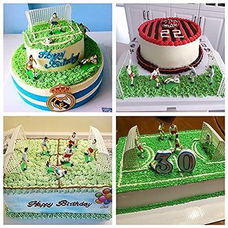 Amazon.com: Decoración para tartas – 1 juego de fútbol juego ...