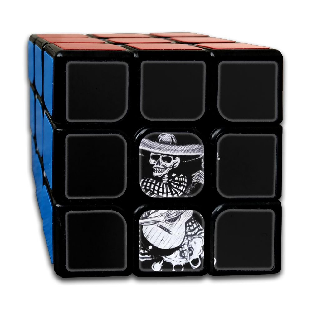 AVABAODAN Skull Play Guitar Rubik's Cube 3D Printed 3x3x3 Magic Square Puzzles Game Portable Toys-Anti Stress For Anti-anxiety Adults Kids