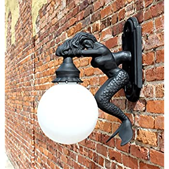 Outdoor Wall Light Sconce Fixture Antique Styl Mermaid