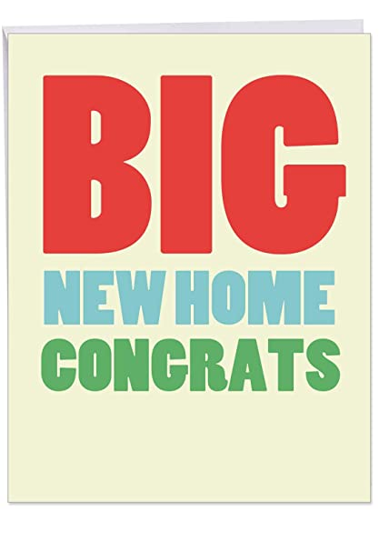 Amazon Com Big New Home Congratulations Greeting Card With