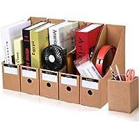 Caja de Almacenamiento de la Oficina Revistero Archivador File Magazine Holder Cardboard Magazine Book Rack Lever Arch…
