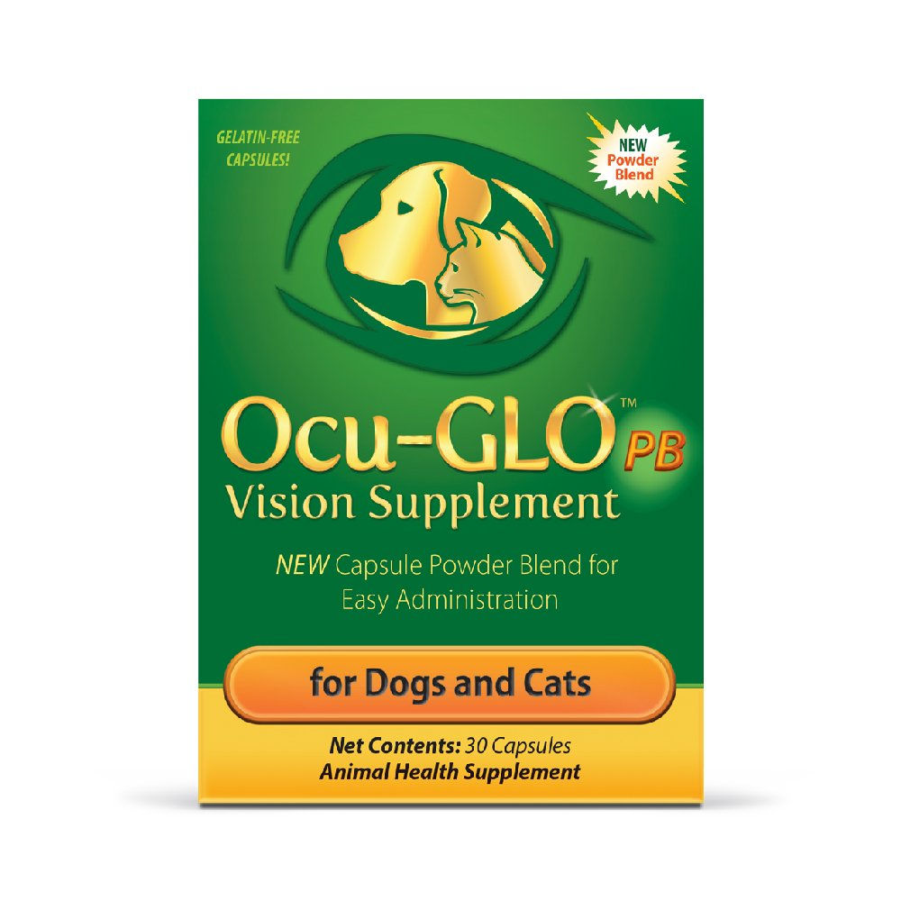Ocu-GLO PB for Small Dogs & Cats Vision Supplement - Eye Support for Dogs – Easy to Administer w/Lutein, Omega-3 Fatty Acid & Antioxidants – Add Directly to Food – Support Optimal Eye Health, 30ct